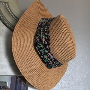 Forever 21 Tan Floral Sunhat